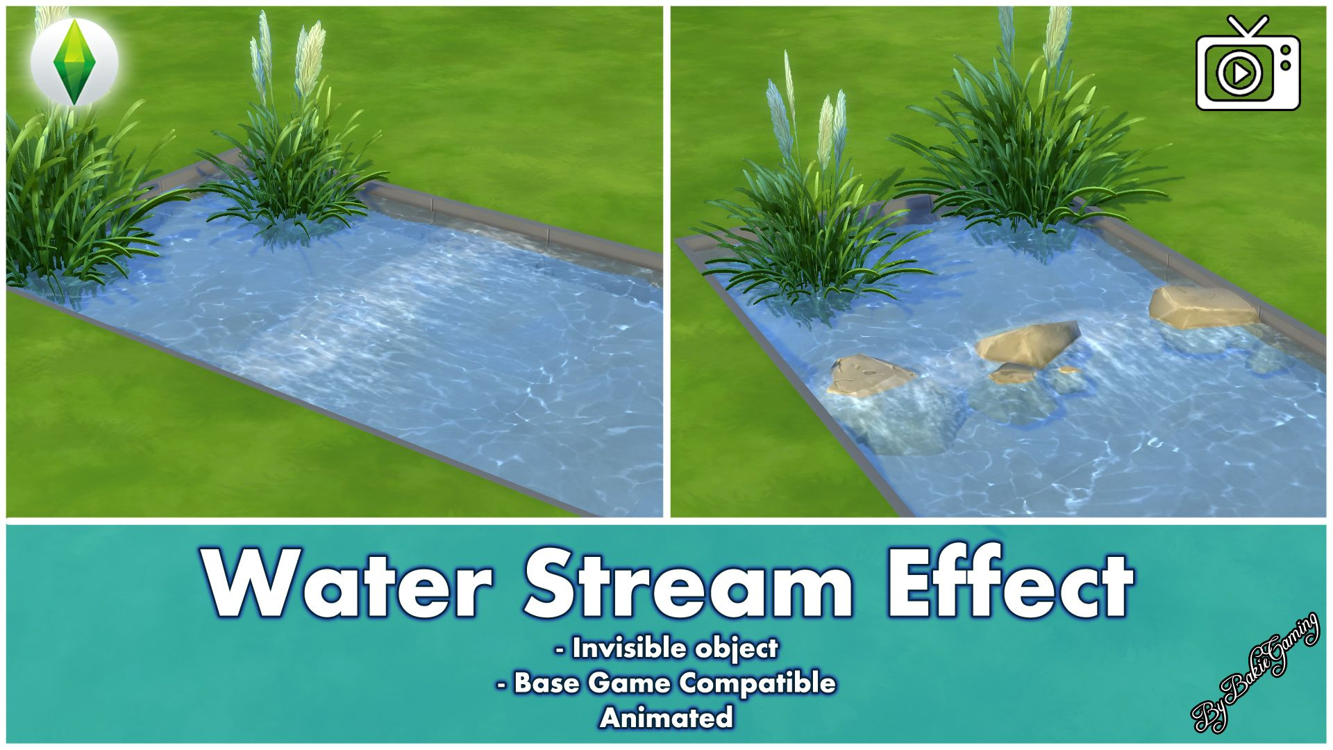 mod the sims water stream effect invisible object sims 4 cc