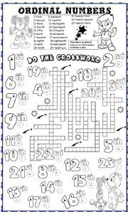 English worksheet: ordinal numbers | 1st day of school | Pinterest ...