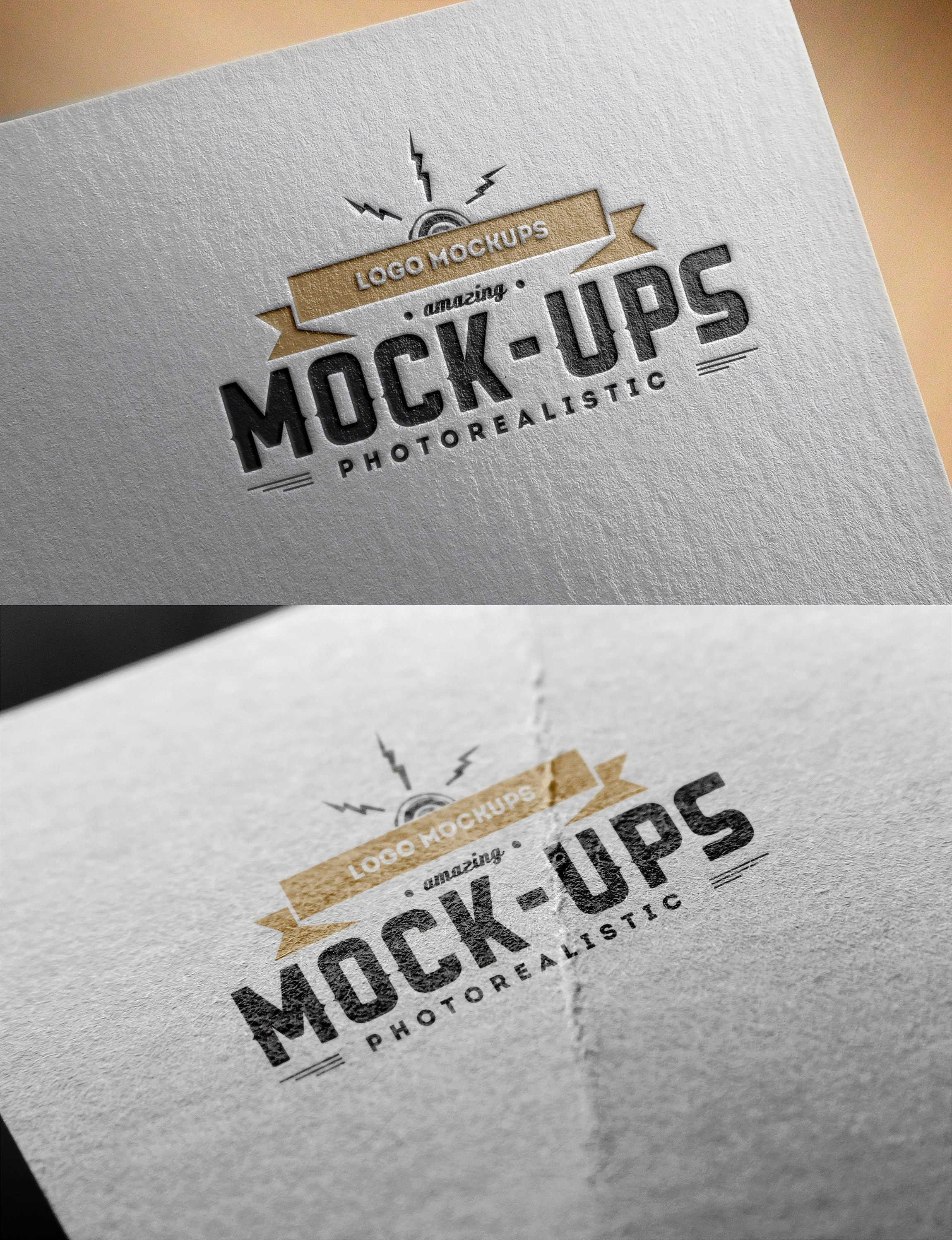 Use these two different logo mockups to display your work