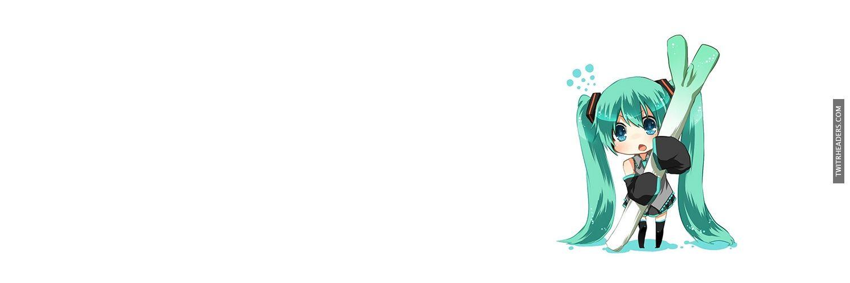 Hatsune Miku Vocaloid Twitter Header Cover
