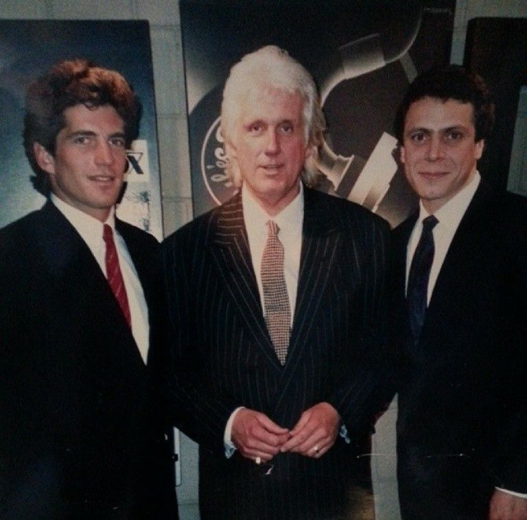 John F Kennedy Jr And A Young Future Governor Andrew Cuomo Were Interviewed By William O Shaughnessy In May 1989 At The Wl John Kennedy Jr Kennedy Jr Jfk Jr