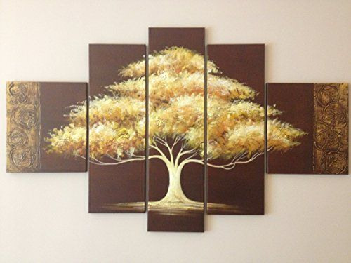 Golden tree hanging on the wall at home, you can make your home ...