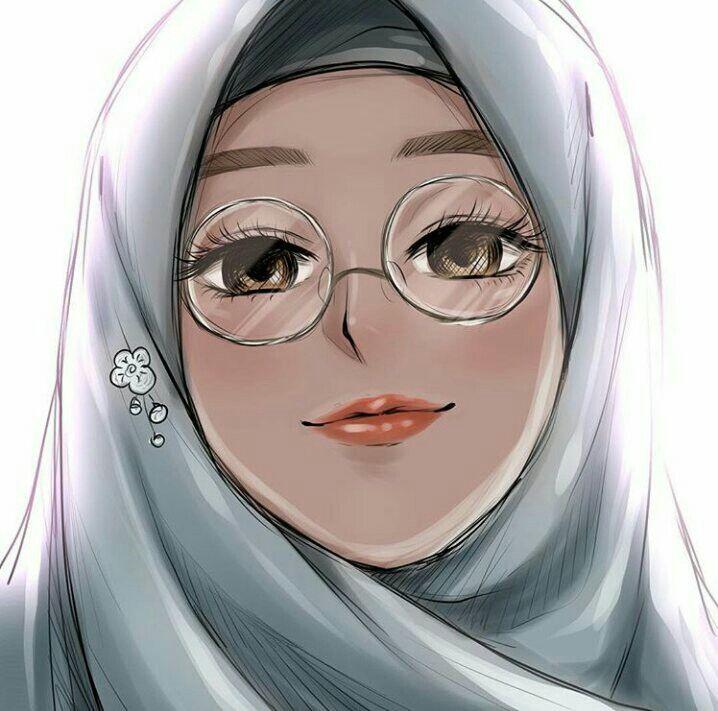 Zoemoon Hijab Drawing Anime Muslim Digital Art Girl