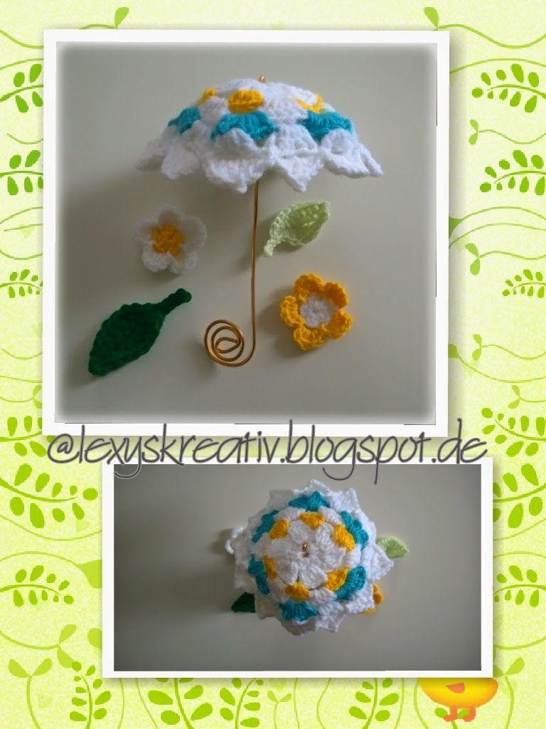 Lexyskreativblog Gehäkelter Sonnenschirm Handmade Pinterest