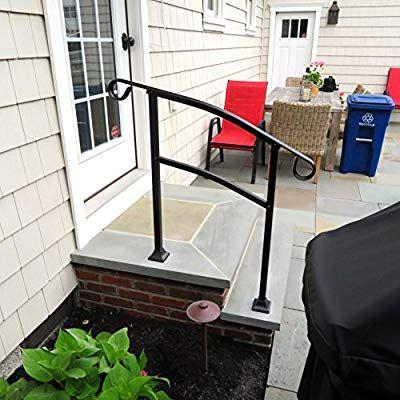 Best Instantrail 3 Step Adjustable Handrail Black Amazon 400 x 300