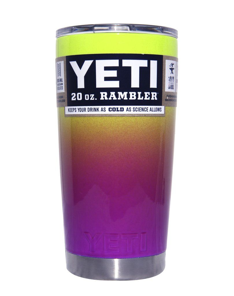 32ae8f89618 Yellow to Purple Ombre Yeti 20 oz Rambler Tumbler #yeti #yetis ...