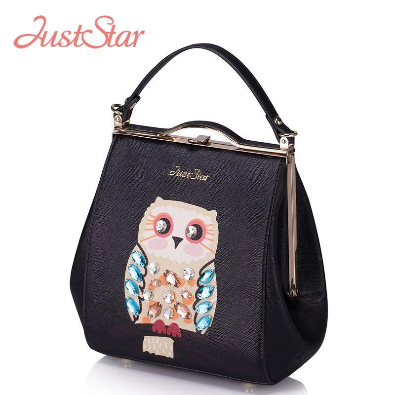Apenas estrela de diamantes coruja pequena bolsa de couro PU mulheres marca Crossbody Bolsas femininas Bolsas JZ5872(China (Mainland))