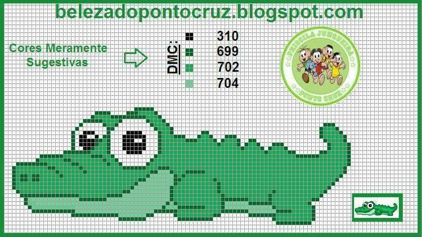 Reptile alligator cross stitch. | Cross stitch | Pinterest ...