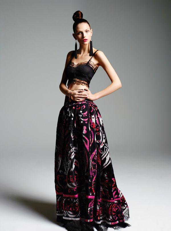 Emilio Pucci Crop top with high-waist maxi skirt | Fashion n ...