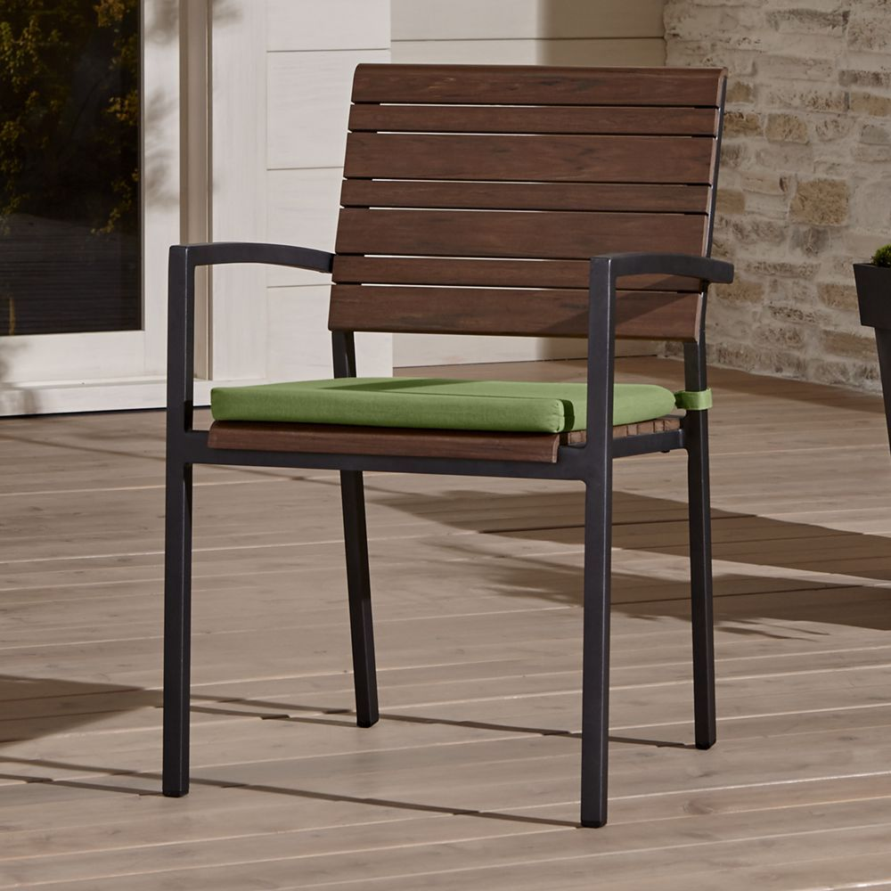 Rocha ii dining arm chair with sunbrella cushion