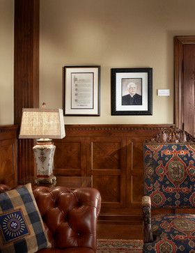 small home office with wood wainscoting - Google Search