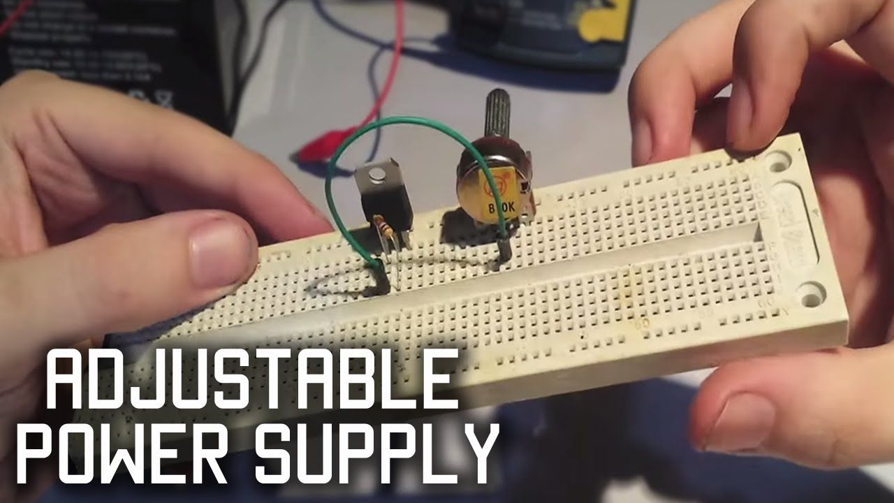 Make a simple adjustable power supply LM317 | electronics ...