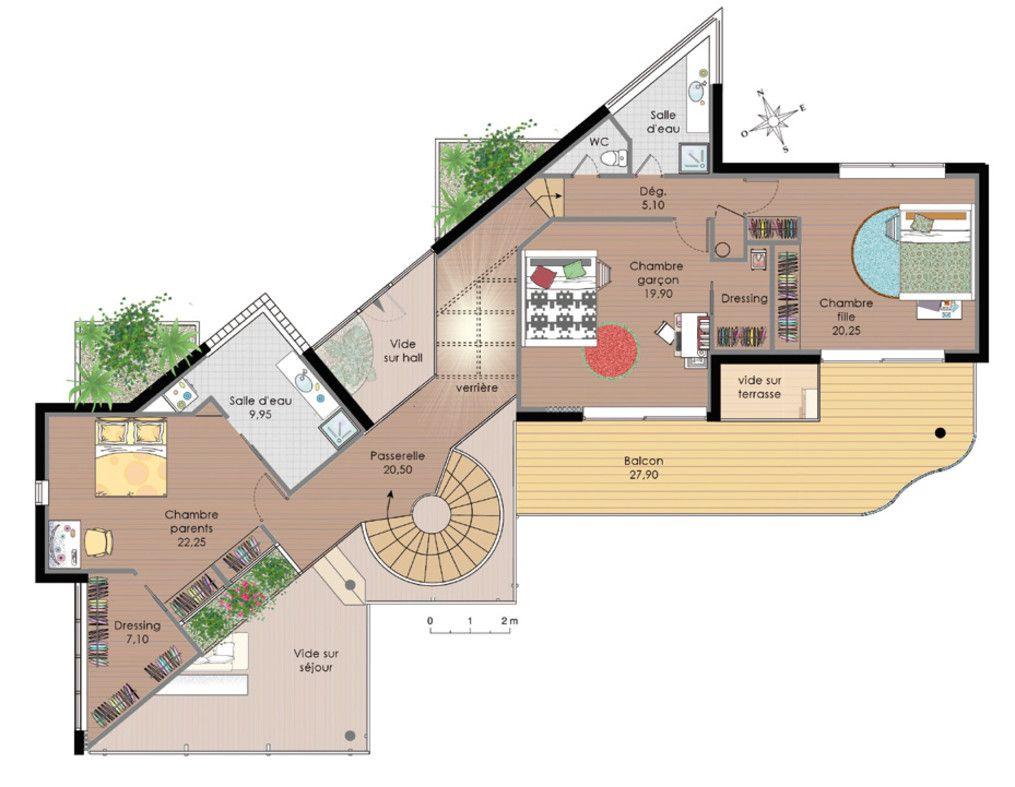 plan maison d architecte plan maison house plans. Black Bedroom Furniture Sets. Home Design Ideas