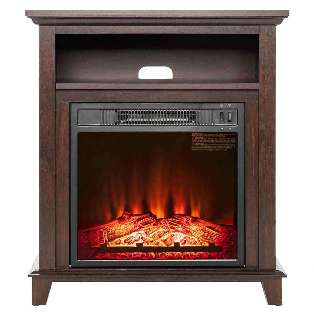 Best Electric Stove Fireplace Akdy 27 In Freestanding Electric Fireplace In Brown With Storage