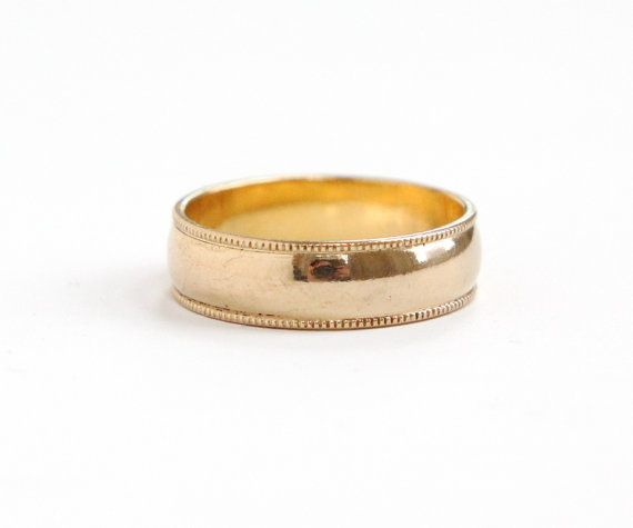 Vintage 10k Yellow Gold Filled Wedding Band Ring By MaejeanVintage