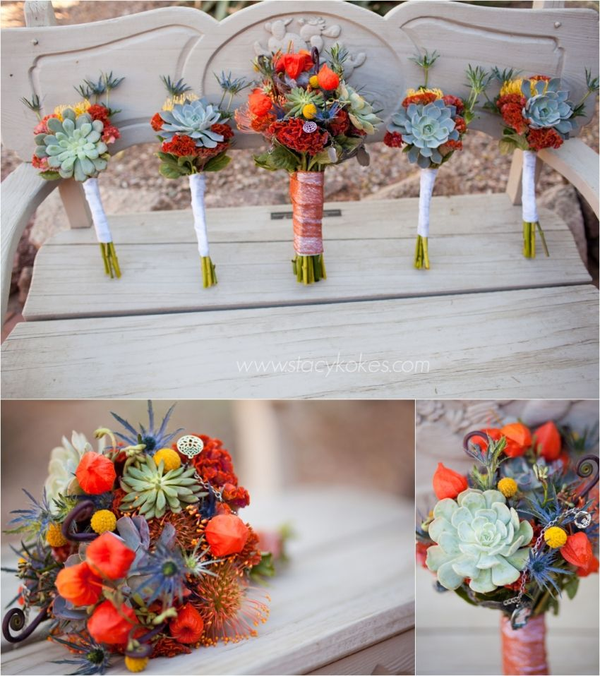 26 Rustic Wedding Ideas That Still Feel Elevated: Catherine+Matt :: Desert Botanical Garden Wedding