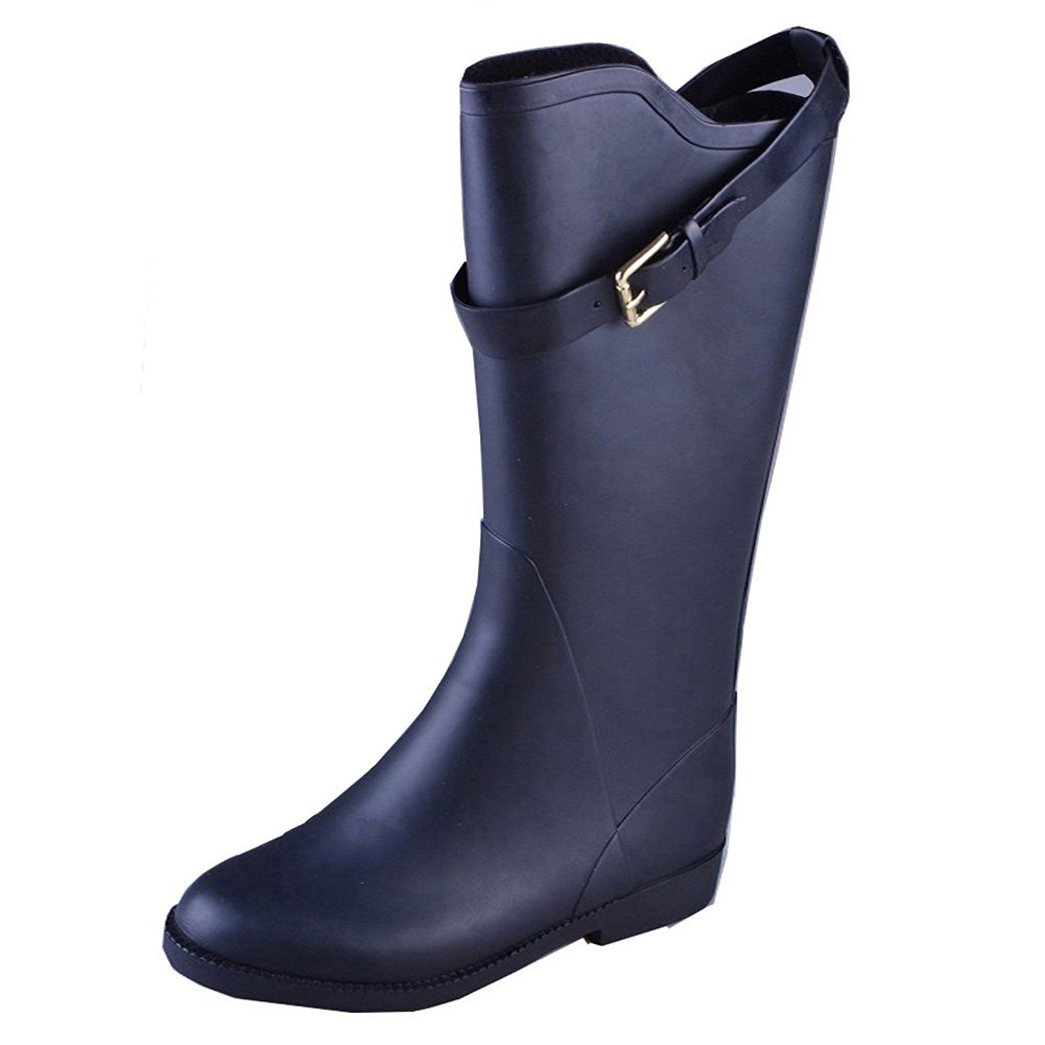 VICVIK Women's Classic Rubber Rain Boot With Buckle *** You can get additional details at the image link.