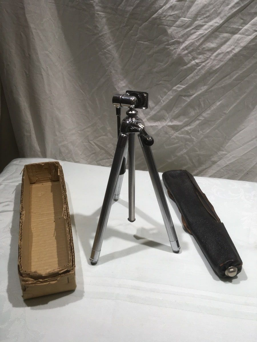 camera tripod silver metallic w case Item s gn_261_22_41