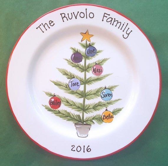 Custom Christmas Platter,  Personalized Platter,  Gift for Parents, Christmas Gift for Grandparents, #bestgiftsforgrandparents