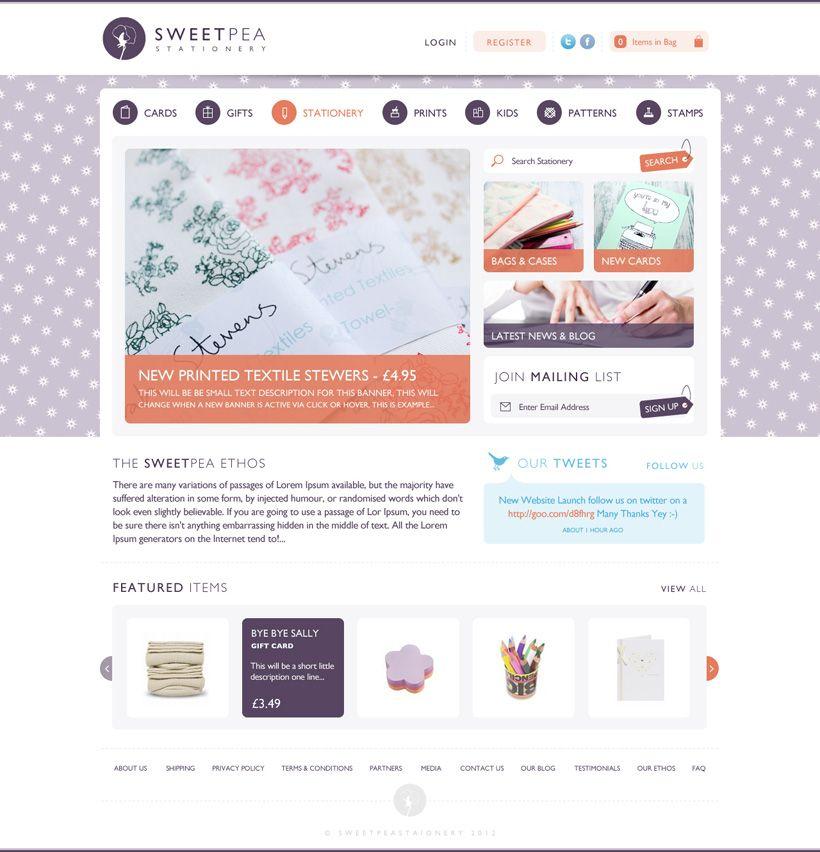 Sweetpea Stationery We Are Empire Web Inspiration Squarespace Website Design Ecommerce Website Design