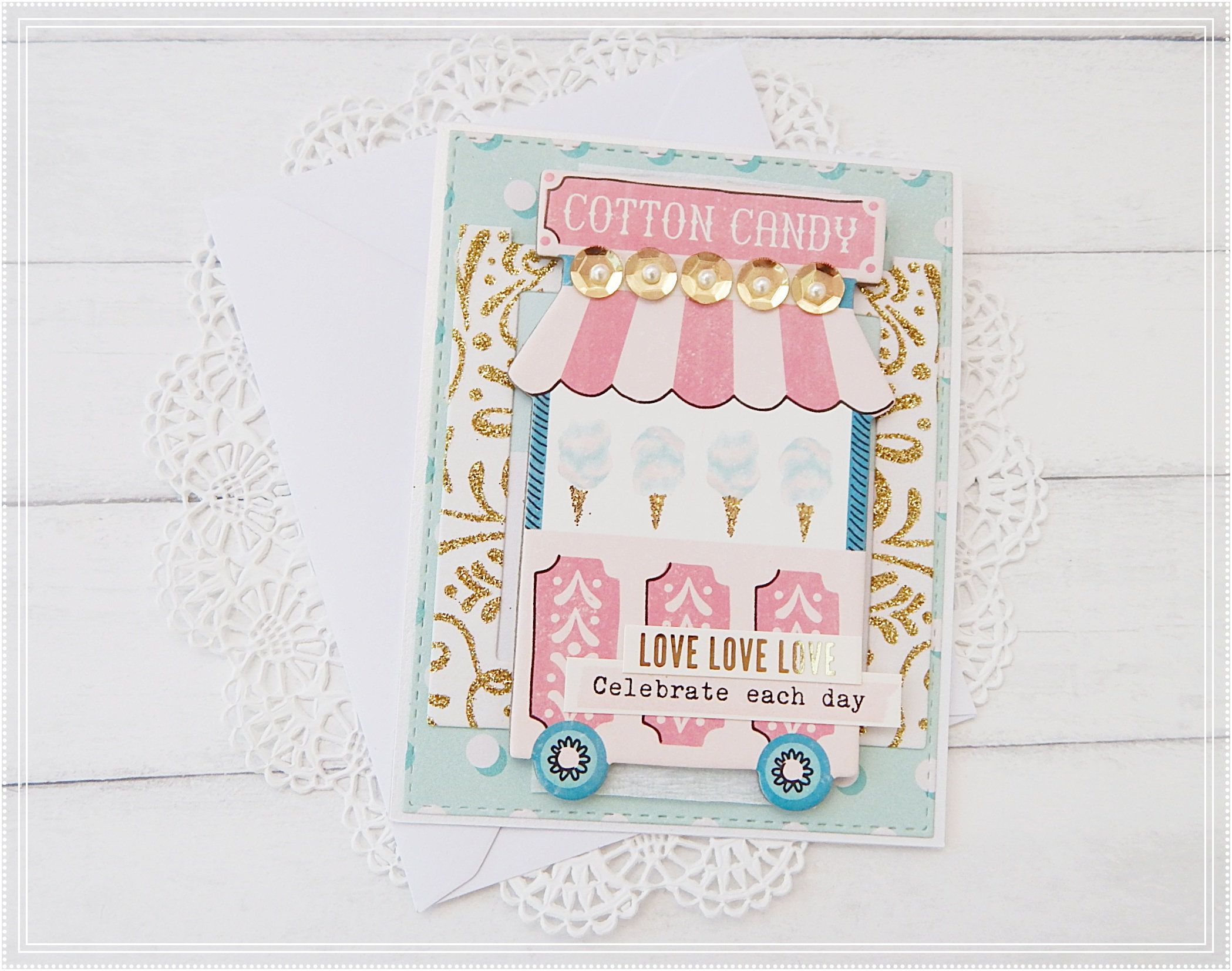 Maggie Holmes Carousel Greeting Card Carrusel Maggie Holmes