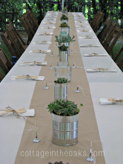 succulents tin cans the perfect centerpiece