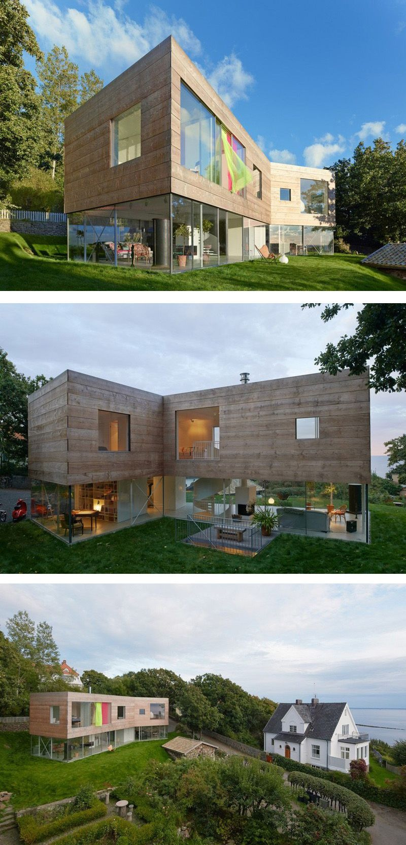 This Home In Sweden Has A Transparent Ground Floor And A