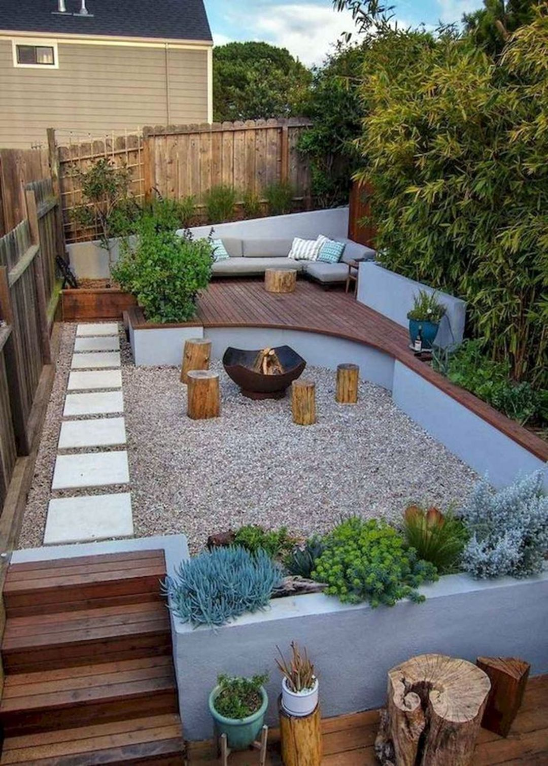 13 Amazing Multi Level Garden Ideas You Need To Try To Your Yard In 2020 Small Backyard Landscaping Small Backyard Gardens Small Backyard