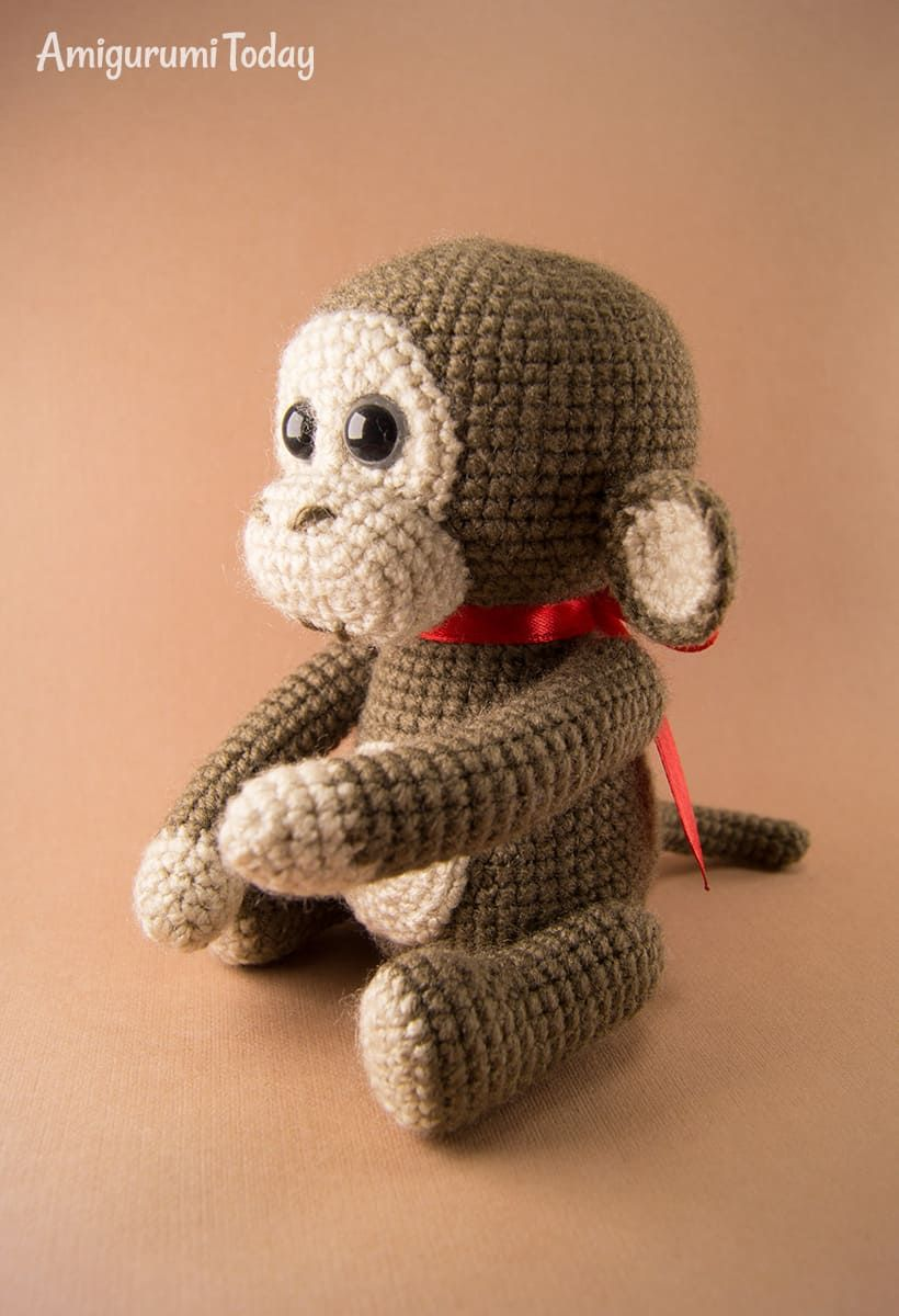 Patrón de crochet de mono travieso gratis por Amigurumi hoy ...