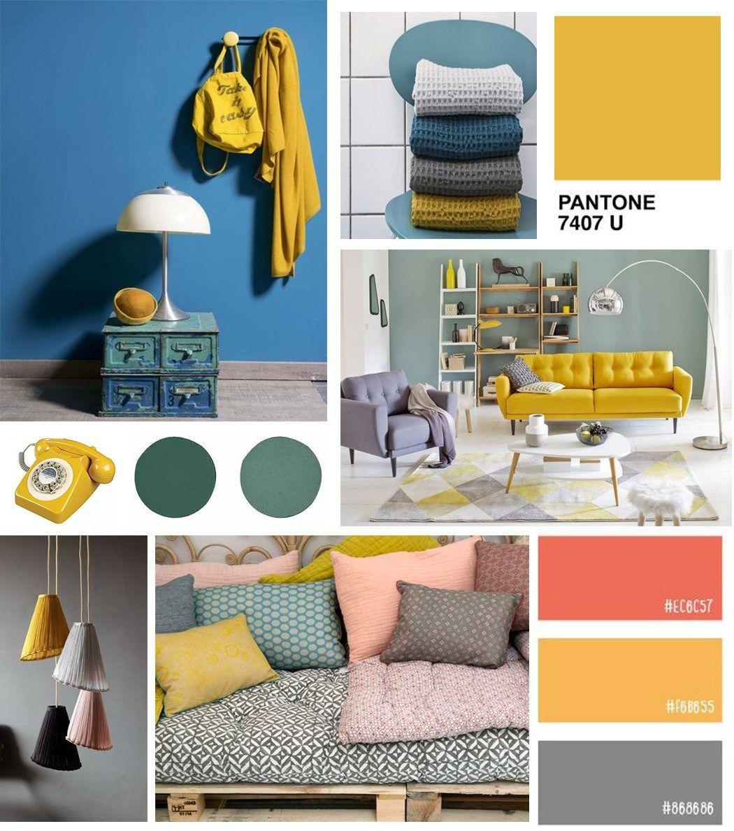 jaune moutarde association avec autres couleurs v2 couleur pinterest mustard salons and. Black Bedroom Furniture Sets. Home Design Ideas
