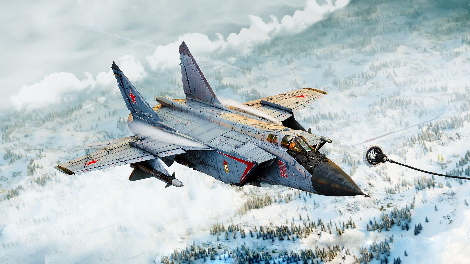 Обои ввс, миг-31, перехватчик, россии, истребитель, Самолёт. Авиация foto 9