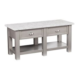 Boston Loft Furnishings Yafou Gray Faux Marbleized Poplar Faux Marble Coffee Table Atg0672ck