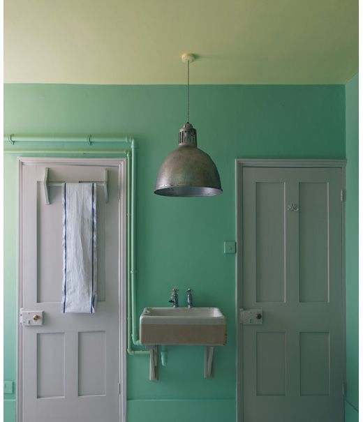 Paint Colors - Seafoam And Lighter Ceiling