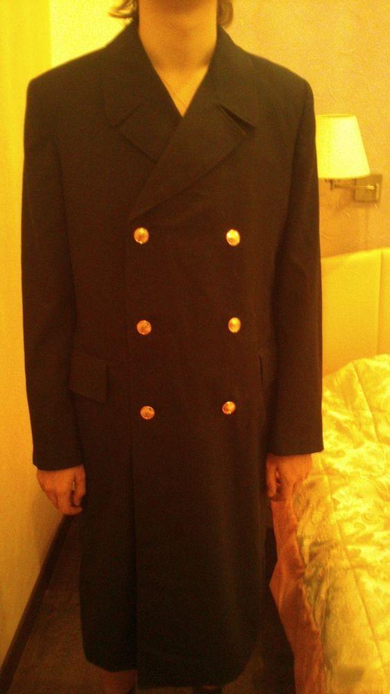 Nos 1984 Soviet Naval Army Oficer Coat Uniform Overcoat Navy Military Russian Ebay Navy Military Soviet Overcoats