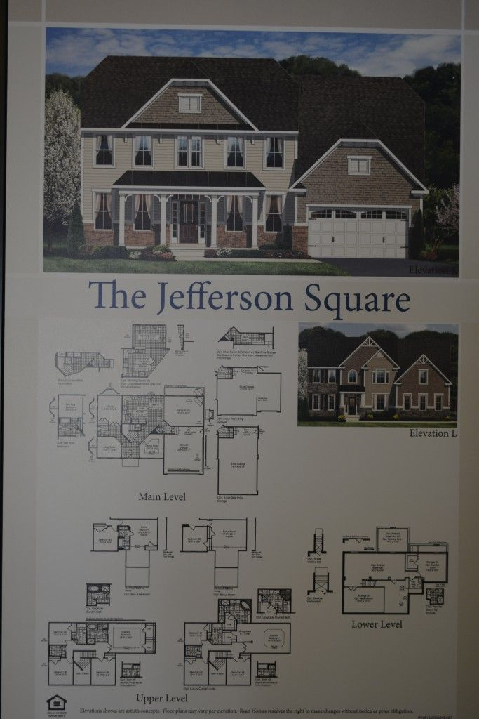 The Jefferson Square single family home floor plan by Ryan Homes – Ryan Homes Jefferson Square Floor Plan