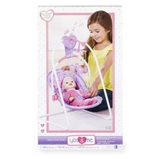 You Me Musical Doll Swing Purple Butterfly Baby Doll Strollers Baby Dolls Car Seat Carrier