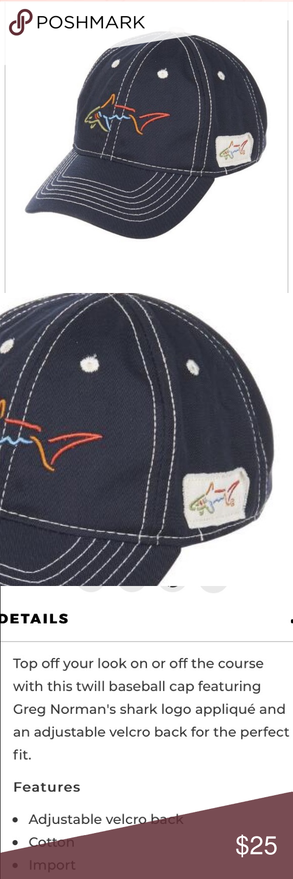 Greg Norman Hat Greg Norman Navy Color Hats