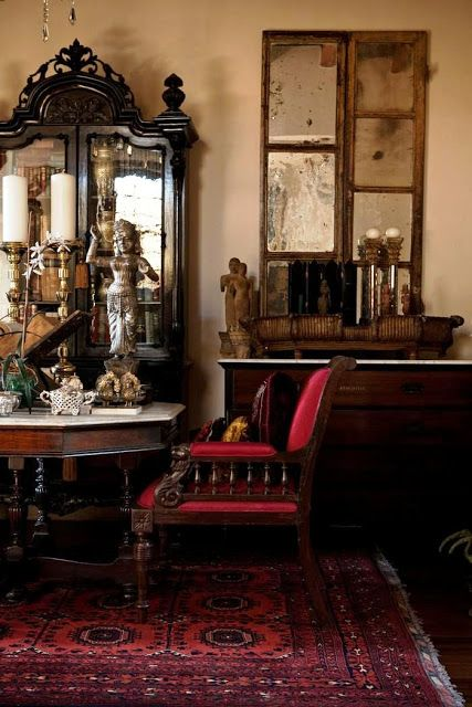 Black painted furniture  feature of much colonial style if you look closely also rh pinterest
