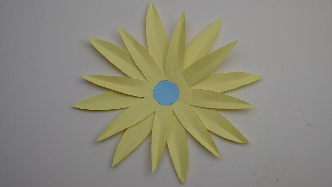 Christmas Craft How To Make A Paper Flower Tutorial Sunflower