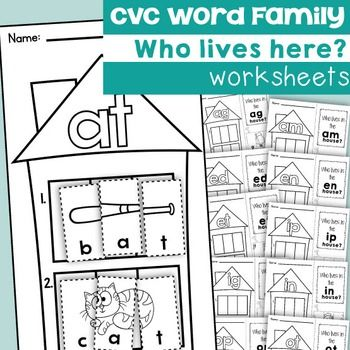 cvc Word Family Worksheets | Cvc word families, Worksheets and ...