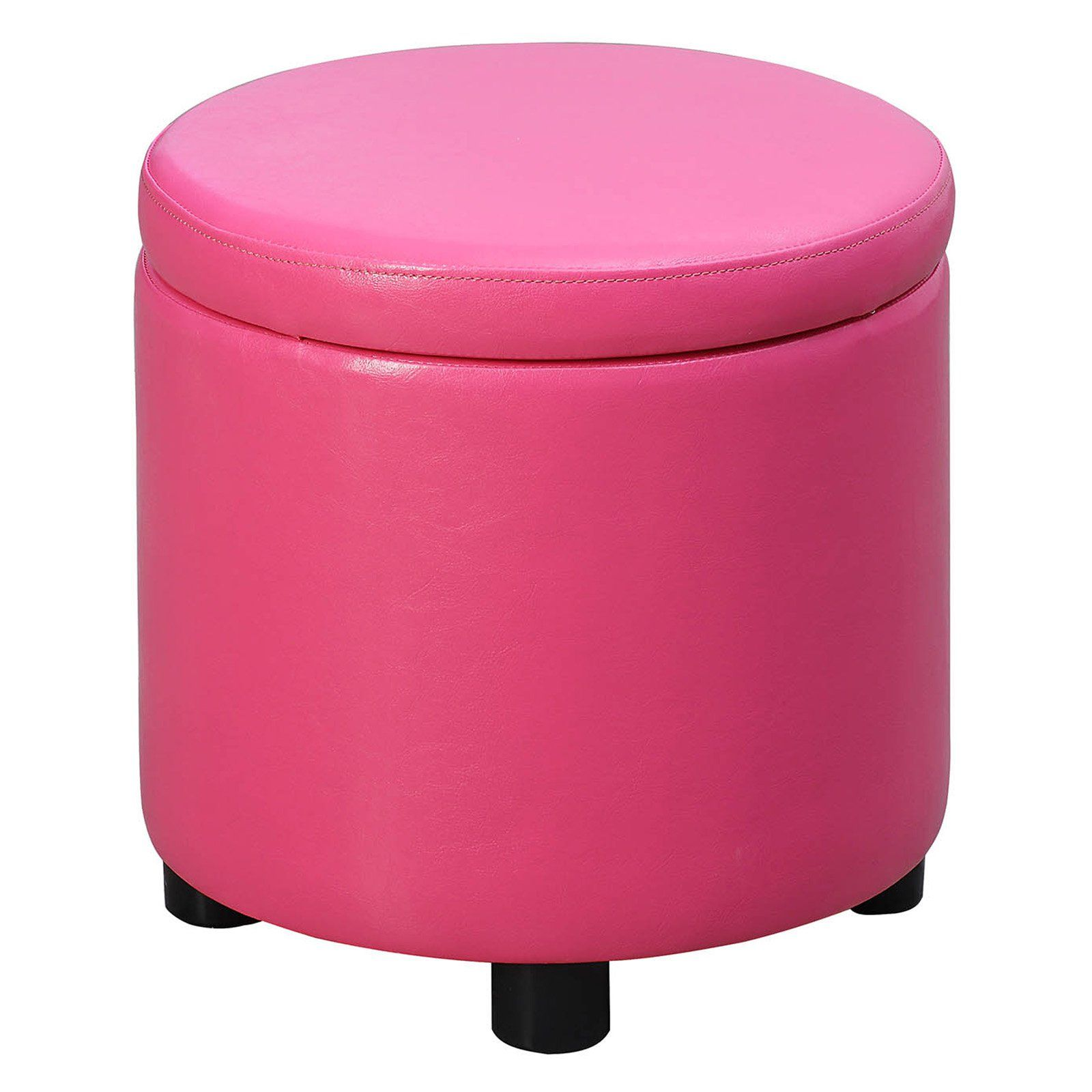 Awesome Convenience Concepts Designs4Comfort Storage Ottoman Pink In Short Links Chair Design For Home Short Linksinfo