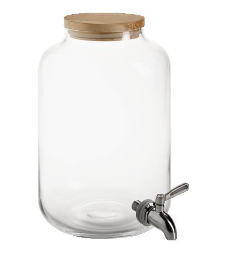 Citronade bonbonne avec robinet en verre 49 voir en soldes anniv nico for Meuble transparent