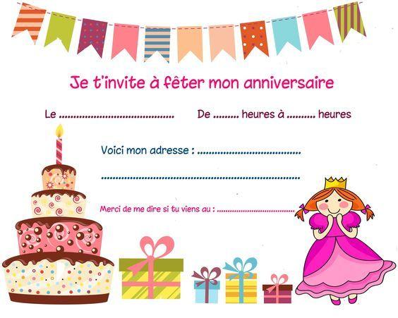 invitation anniversaire garcon 8 ans