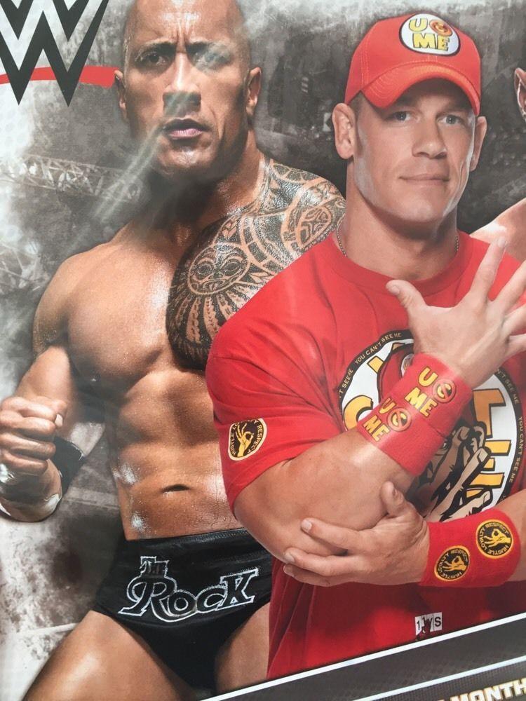 2016 16-Month WWE Wall Calendar NEW Wrestling John Cena Seth Rollins ...
