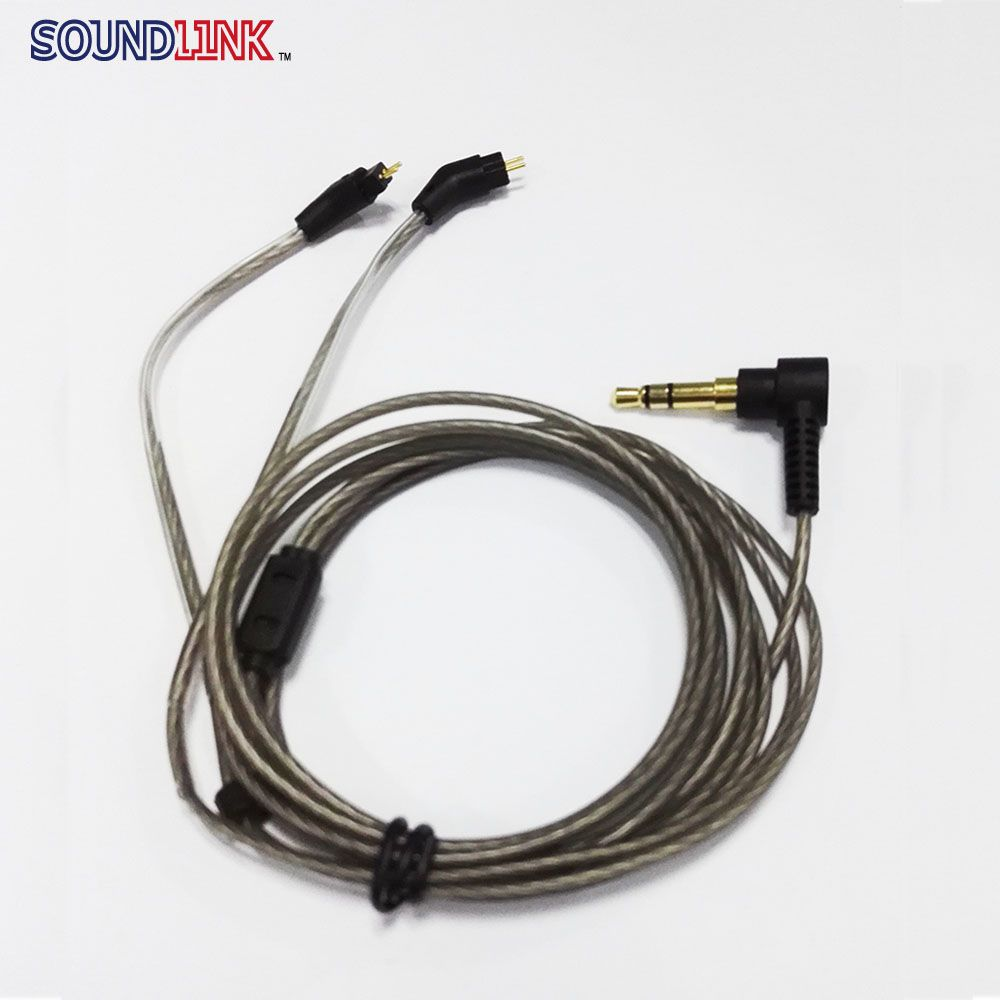 Upgrade Silver Plated 2 Pin IEM Cable Without Mic Headphone Wires ...