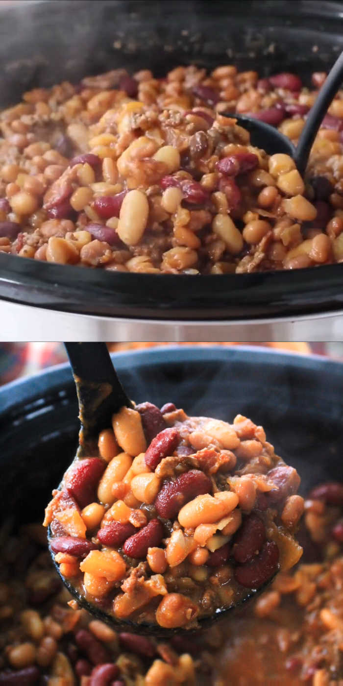 Best Ever Crock Pot Cowboy Beans