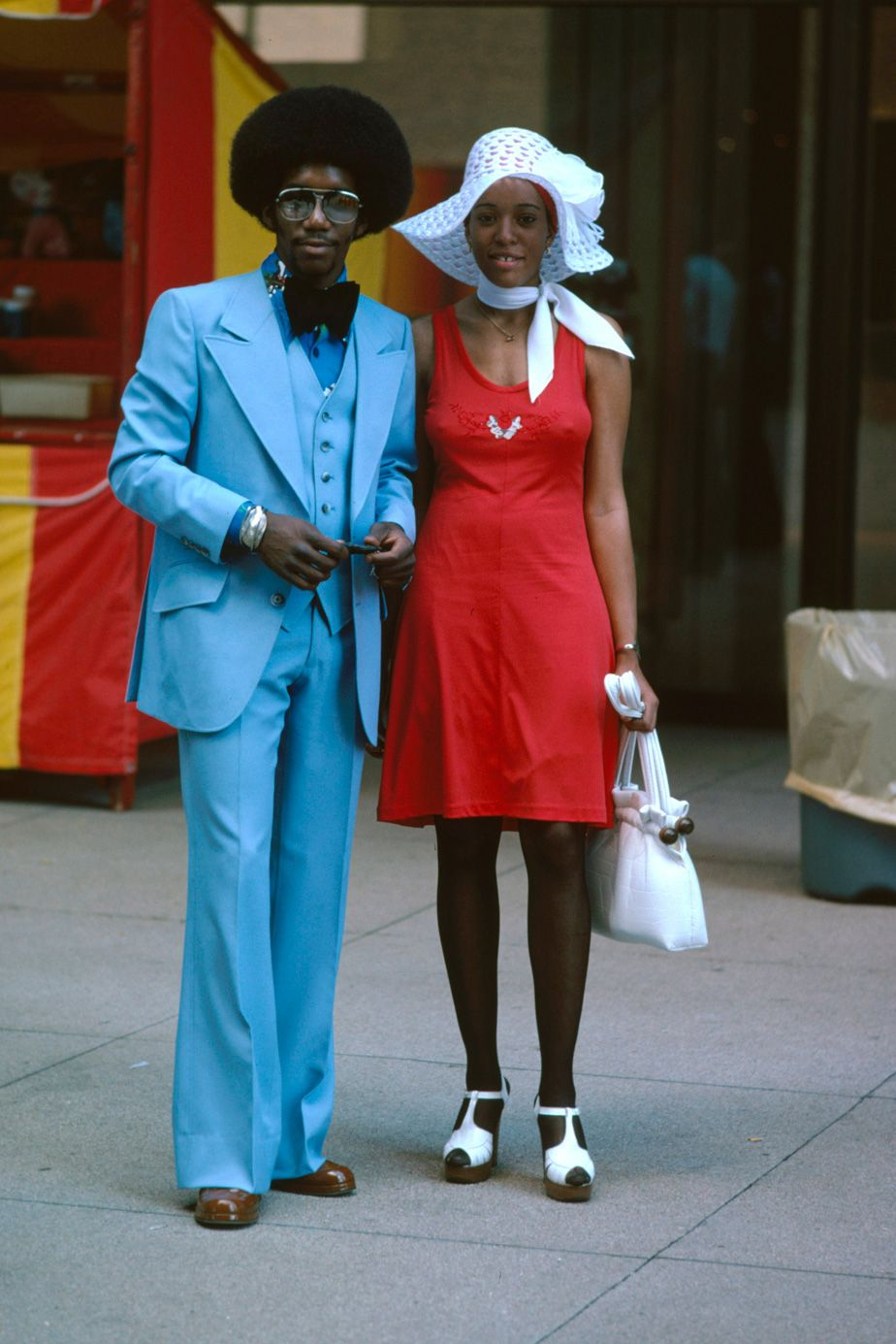 couple afro dans les ann233es 70s look style mode 70s