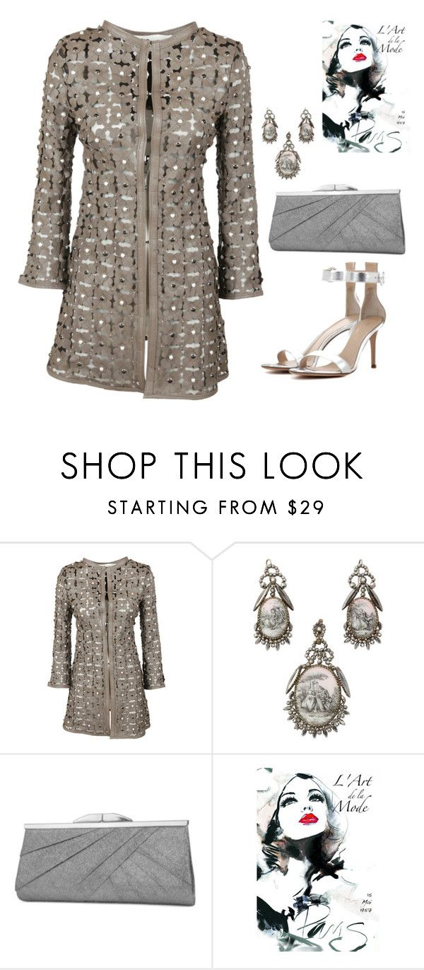 """""""Untitled #751"""" by the-luxurious-glam ❤ liked on Polyvore featuring Caban Romantic, Jessica McClintock and Gianvito Rossi"""