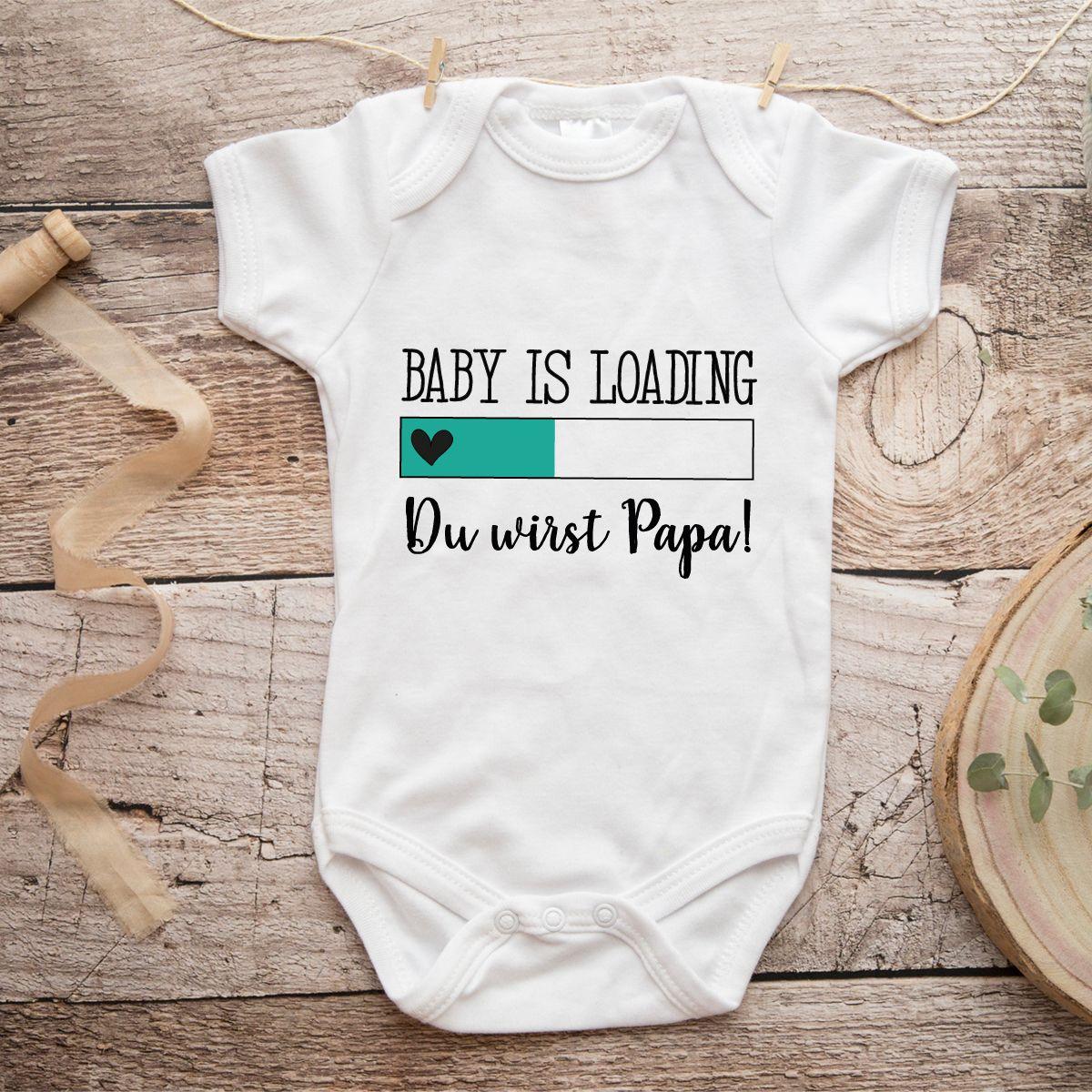 Baby Body mit Spruch Du wirst Papa Ankündigung Schwangerschaft Geschenk