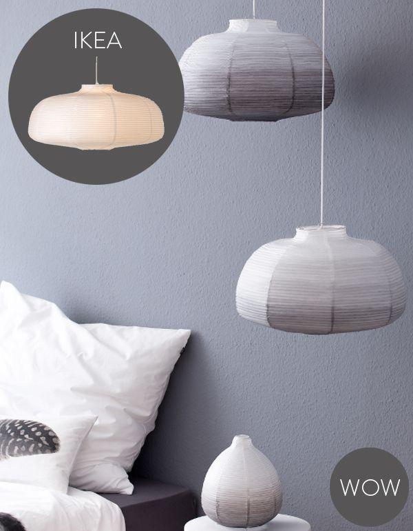 IKEA hack - dip dye Pendelleuchten selber machen. | DIY Lampen ...